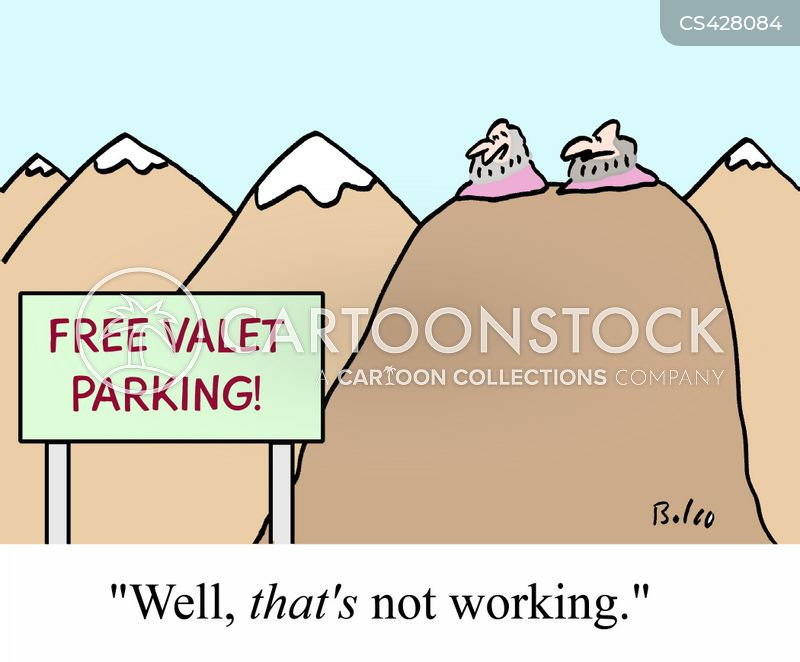 valet parking cartoon