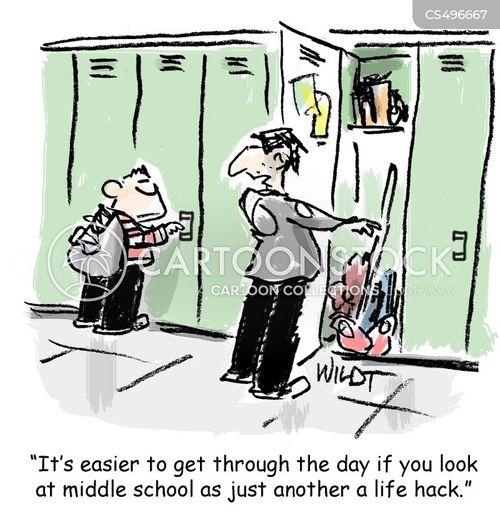 middle schools cartoon
