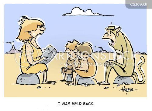 held back cartoon