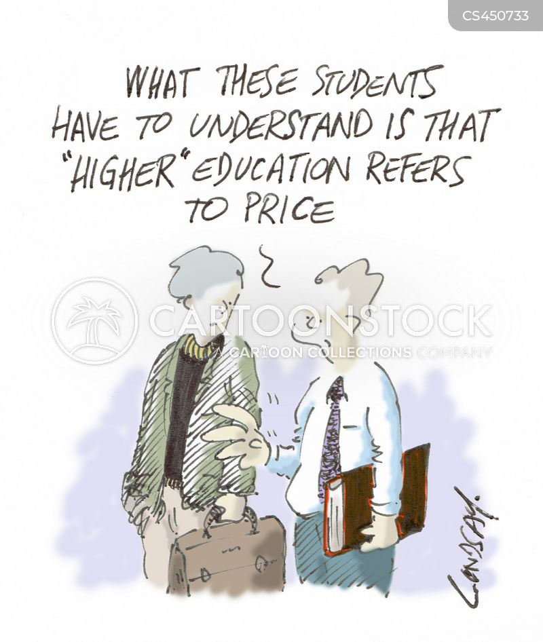 university fee cartoon