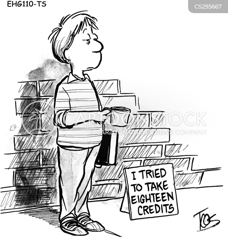 college credits cartoon 1 of 3