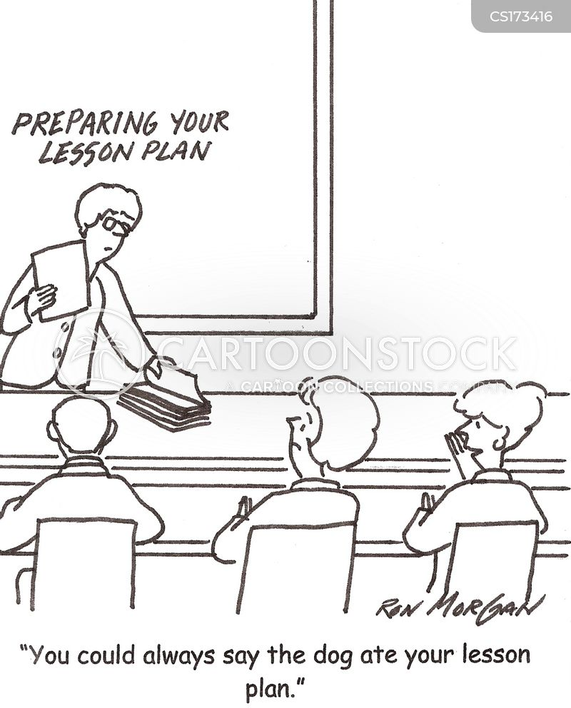Lesson Plan Cartoons and Comics - funny pictures from CartoonStock