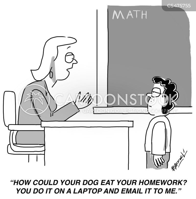 modern schooling cartoon