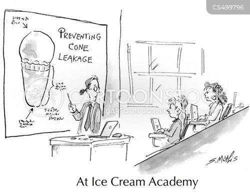 frozen dessert cartoon