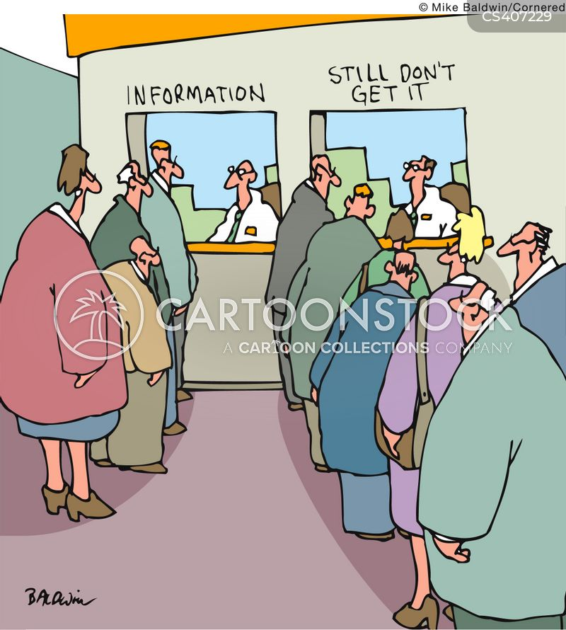 info booths cartoon