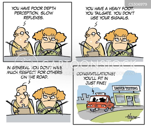 depth perception cartoon