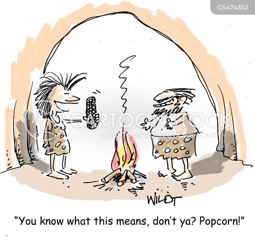 popping corn cartoon
