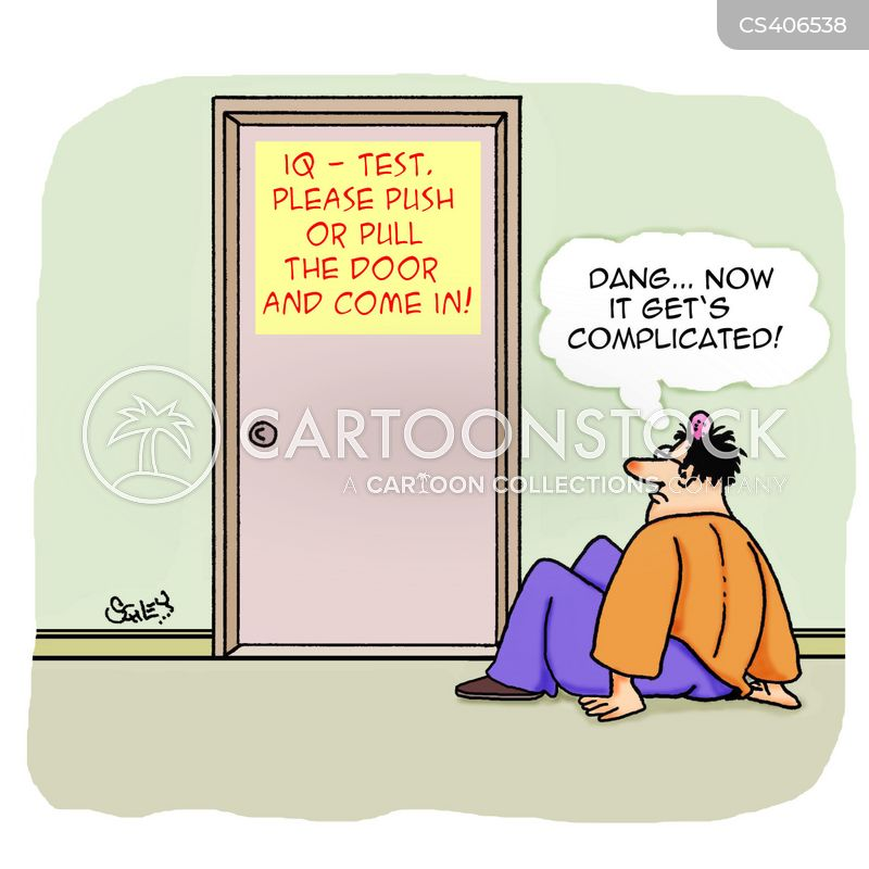 intelligence test cartoon