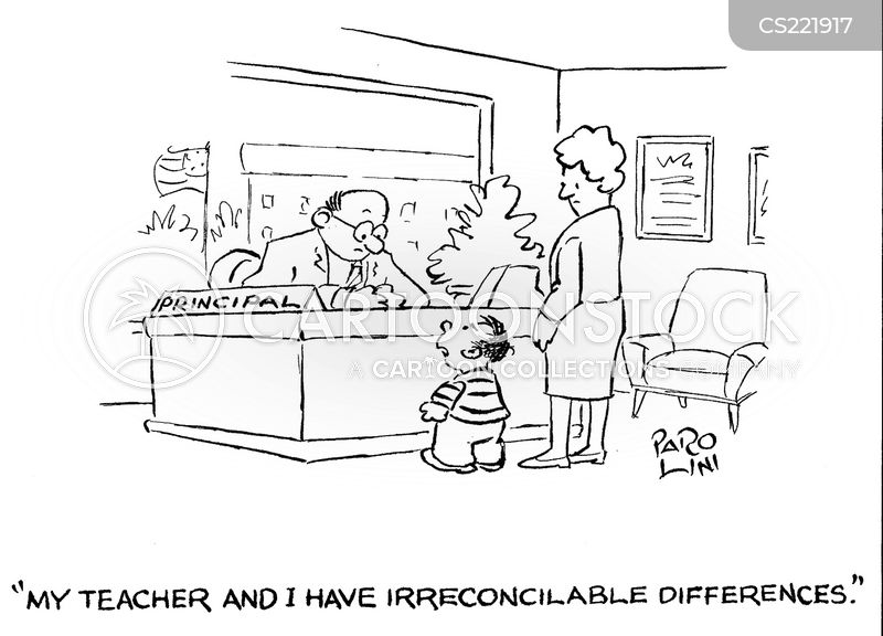 irreconcilable differences cartoon