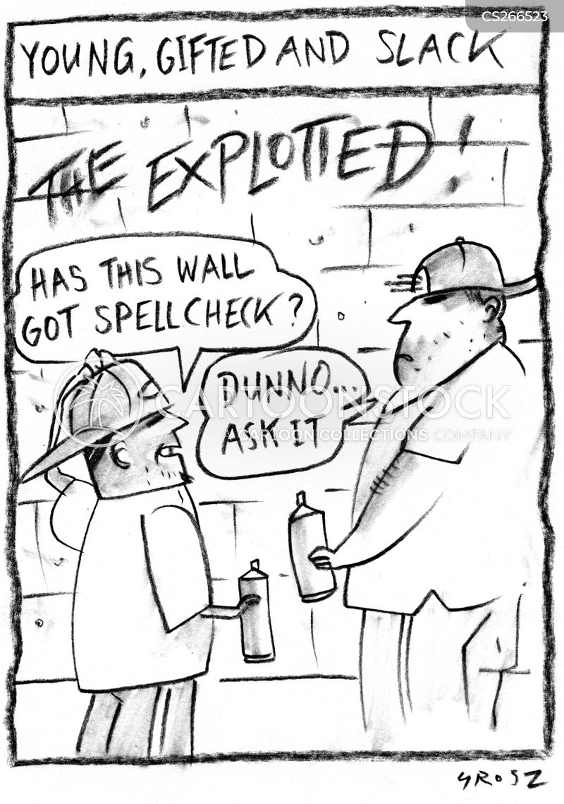 graffitiing cartoon