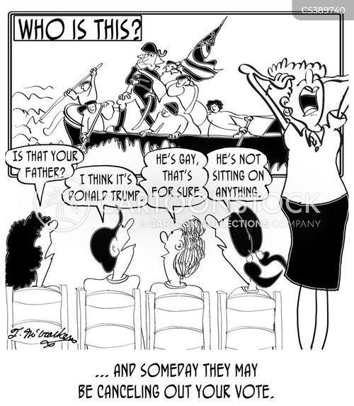 revolutionary war cartoon