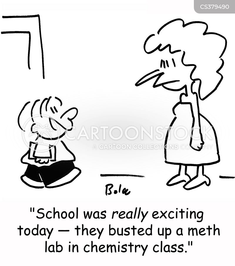 drugs bust cartoon