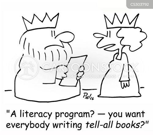 tell all book cartoon