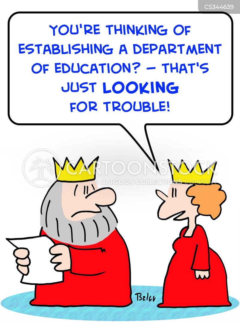 education departments cartoon