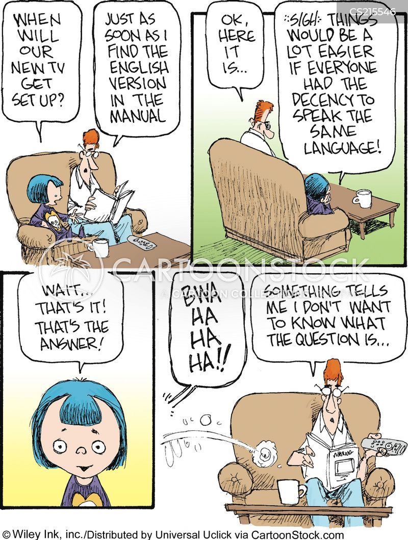 linguistic cartoon