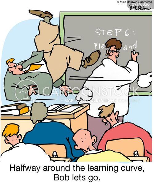 learning curve cartoon