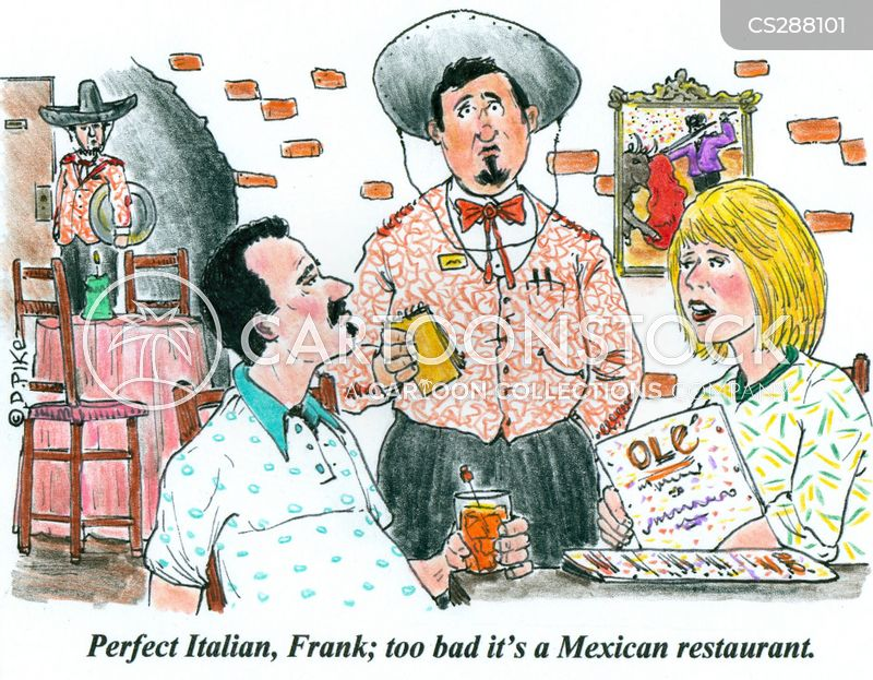 mexican restaurant cartoon
