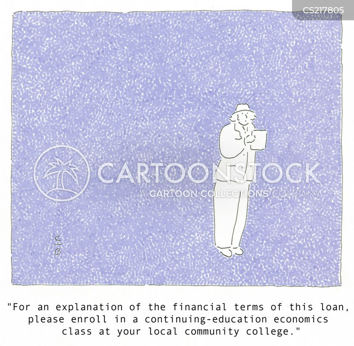 financial loan cartoon