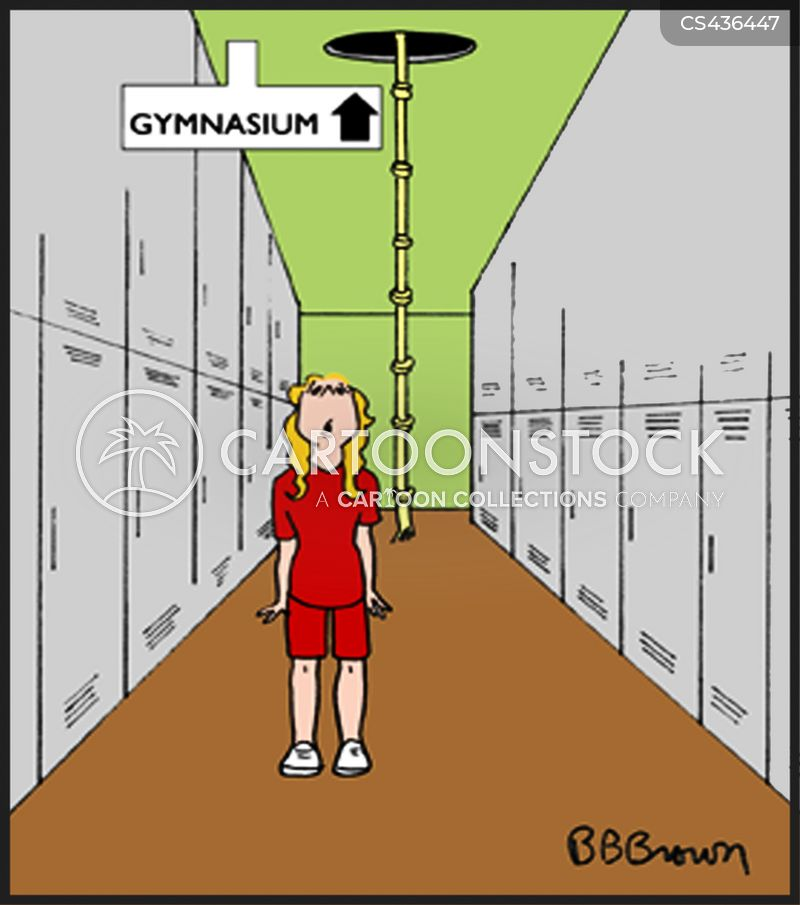 gym classes cartoon