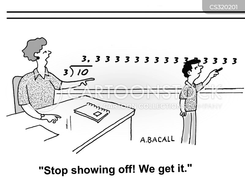 long division cartoon