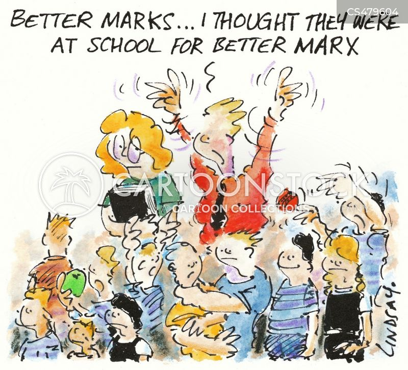 school marks cartoon