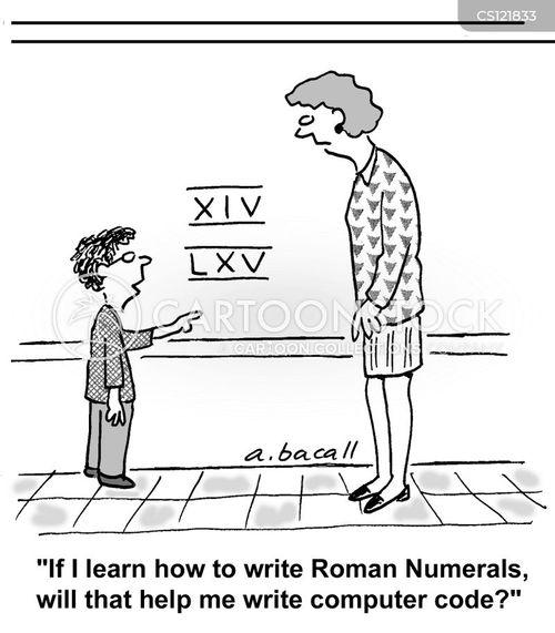 computer coding cartoon