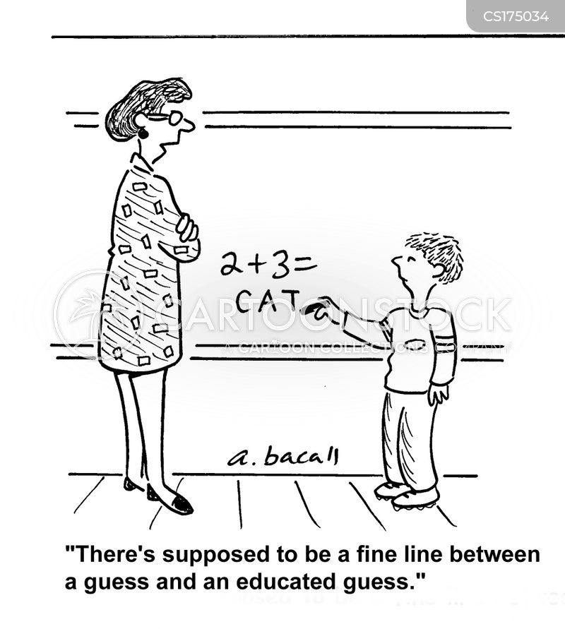 math question cartoon