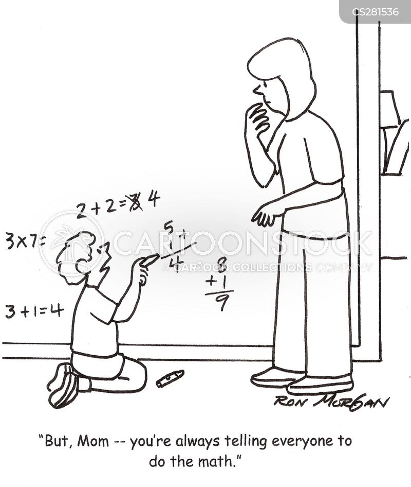 Do The Maths Cartoons and Comics - funny pictures from CartoonStock
