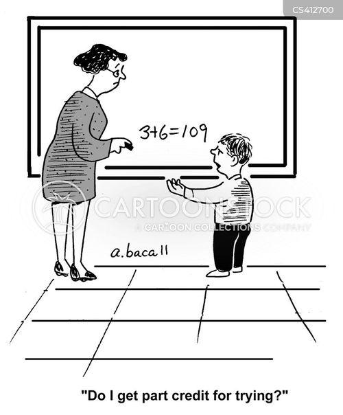 mathematical skill cartoon
