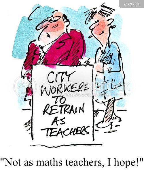 finance worker cartoon
