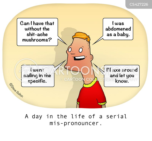 mispronounced cartoon