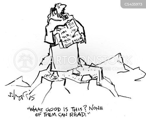 literacy levels cartoon
