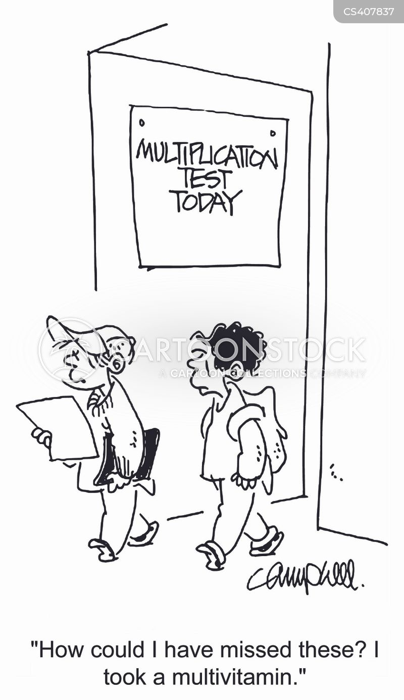 Image result for multiplication test today cartoon