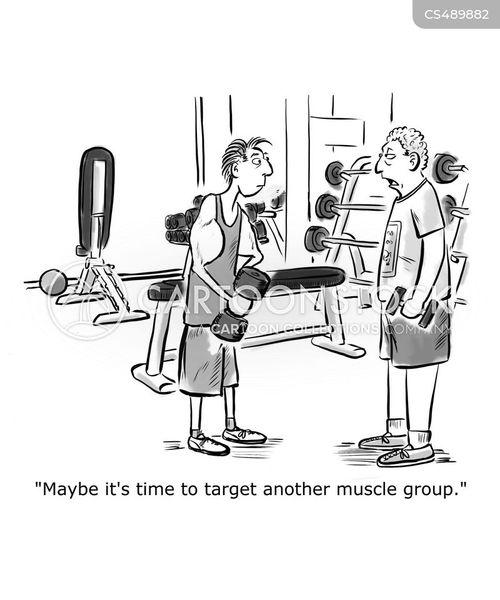 body-building cartoon