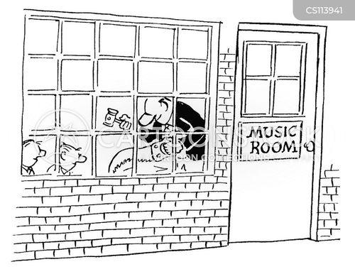 music room cartoon