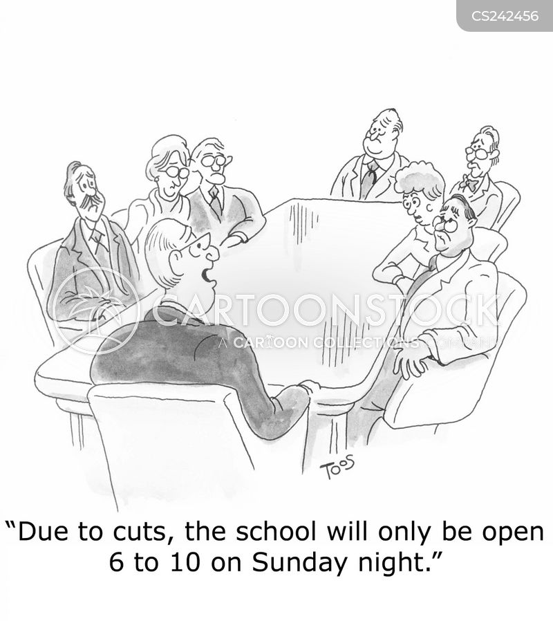 educational cuts cartoon