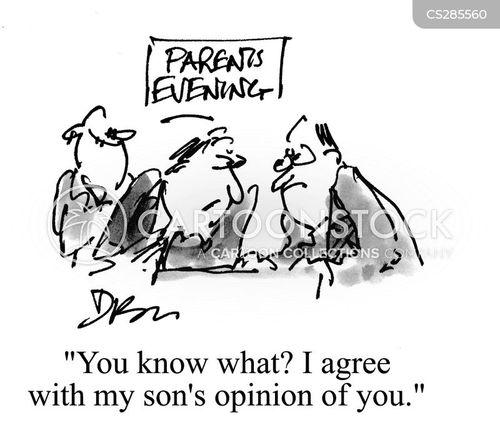 parent teacher meeting cartoon