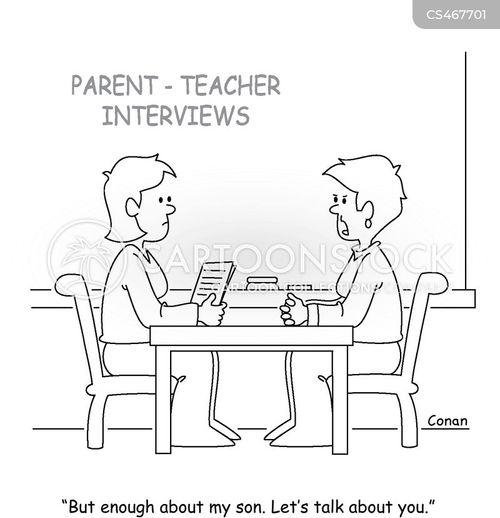 parent-teacher interview cartoon
