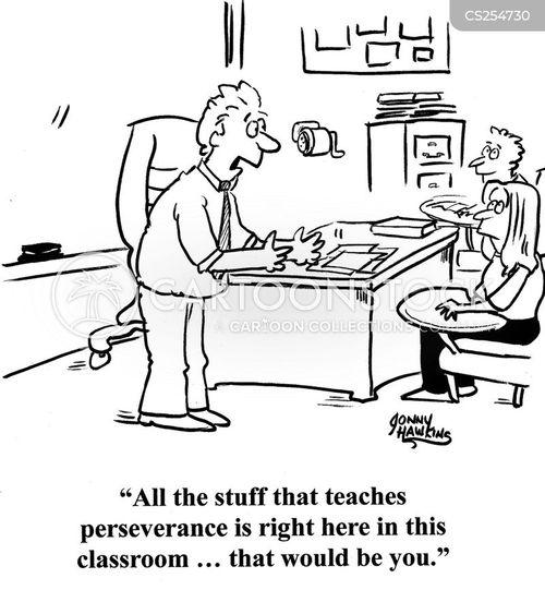 persevering cartoon