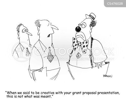 grant writing cartoon