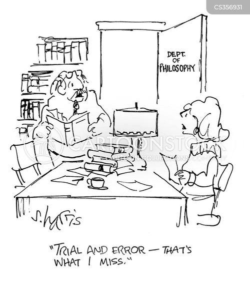 trial and error cartoon