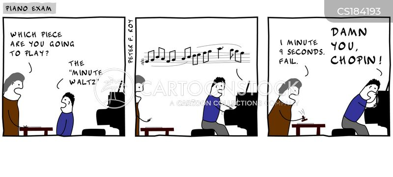 Piano Exam Cartoons and Comics - funny pictures from CartoonStock