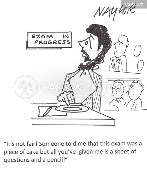 exam paper cartoon