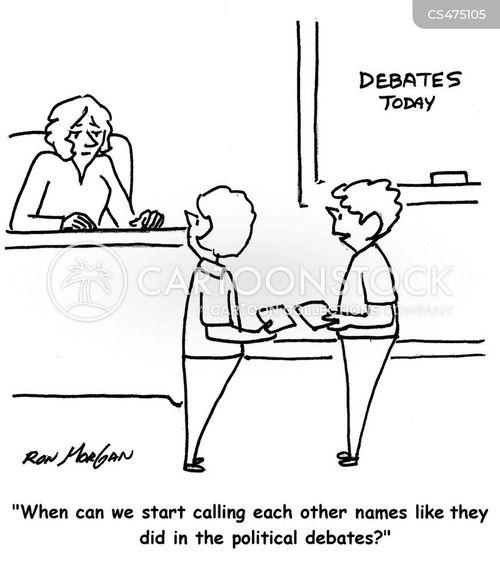 debate teams cartoon