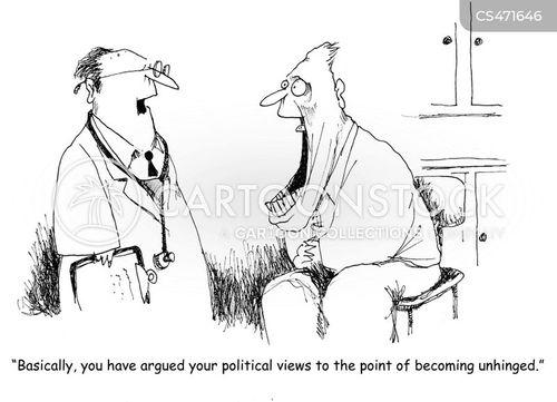 unhinged cartoon