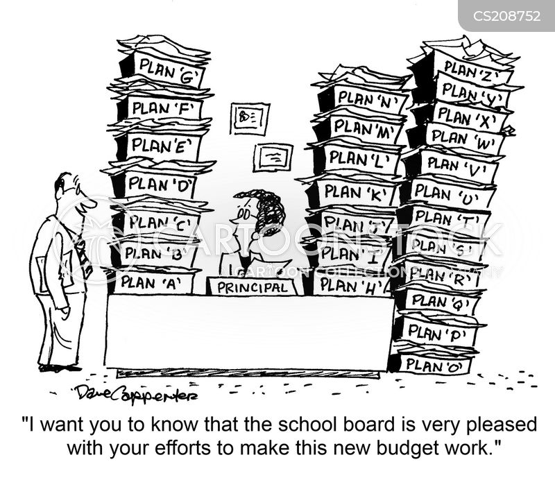 school budget cartoon