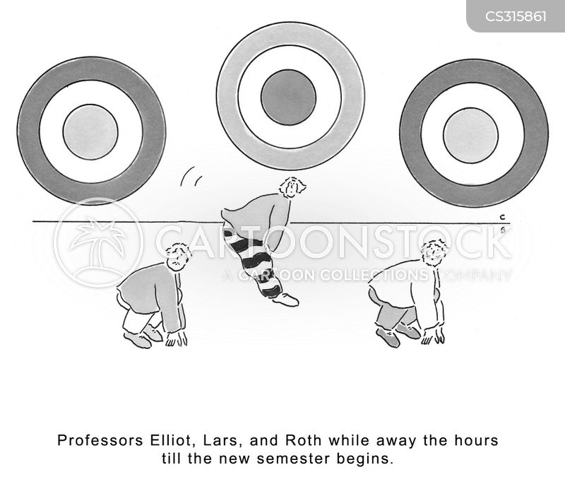 university professor cartoon