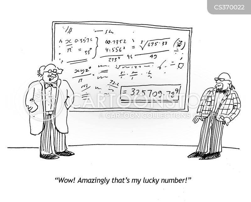 lucky numbers cartoon