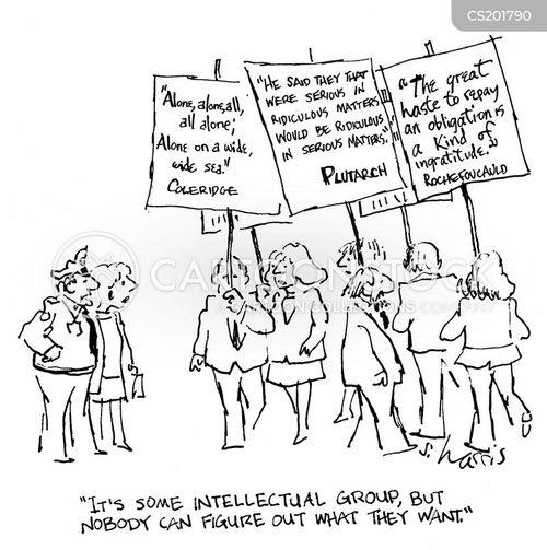 protestor cartoon