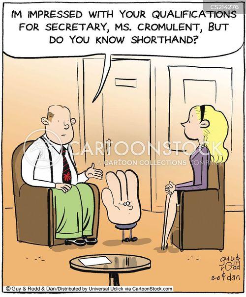 shorthand cartoon
